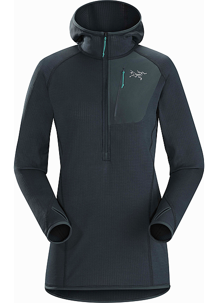 Versatile, trim fitting Polartec® Power Dry® hoody for climbers and alpinists.