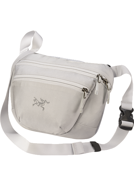 Versatile waistpack with multiple carry options holds and organizes small necessities for quick trips and travel.