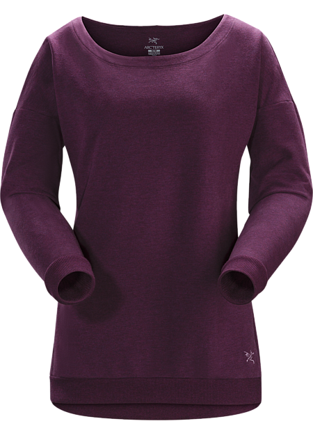 Women's sweatshirt combining everyday cotton comfort and technical performance.