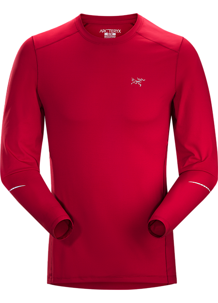 Motus Crew Neck Shirt LS Men's Red Beach