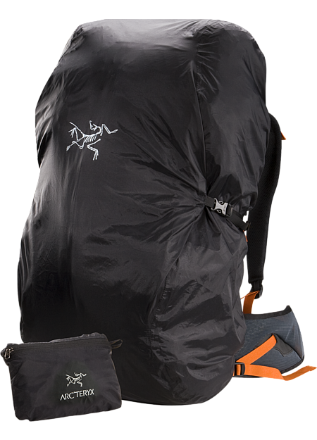 Lightweight and packable pack cover; Fits most packs up to 50L