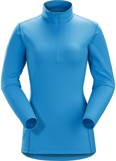 Midweight Phasic™ baselayer zip-neck top for all round use cooler temperatures. Phase Series: Moisture wicking base layer | AR: All-Round.