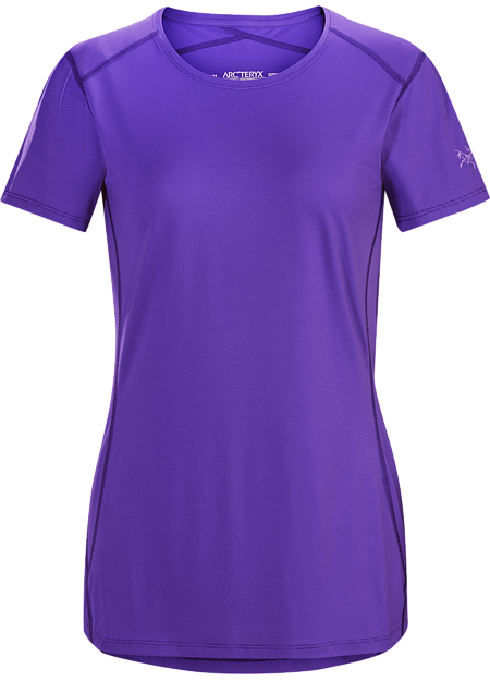 Silkweight Phasic™ short-sleeve baselayer for high output in cooler temperatures.  Phase Series: Moisture wicking base layer | SL: Superlight.