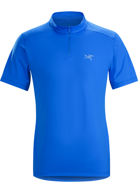 Light, comfortable Phasic™ FL-X zip-neck for long days on hot trails.