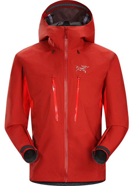 Ski alpinists' jacket combining zonal weather protection and thermal management.