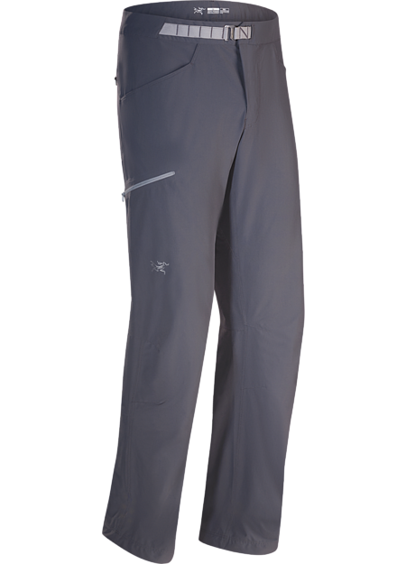 Versatile, lightweight, trim fitting compact softshell pants built for multi-pitch rock climbing.