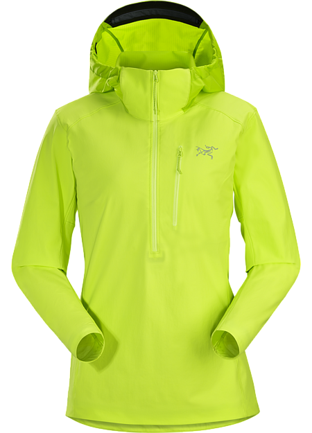 Versatile, light, compact softshell pullover designed for women and built for multi-pitch climbing.