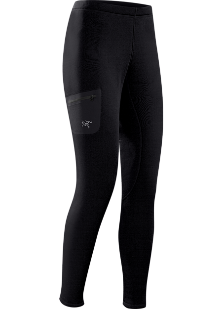 Versatile, mid-weight, insulated tight that can be worn as an insulated base layer, or as a stand-alone outer layer during cool-weather workouts
