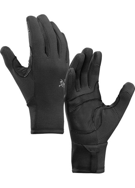 Versatile, weather resistant Polartec® Power Stretch® fleece with Hardface® Technology glove performs on its own or as an insulation layer under a shell.
