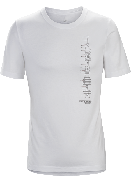 T-shirt with a schematic graphic made with organically grown cotton.