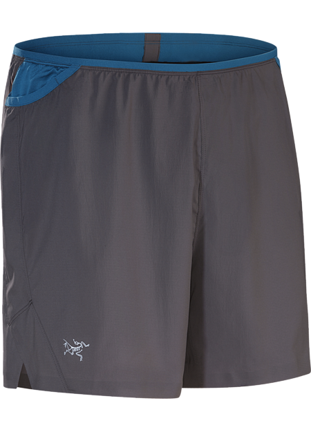 Lightweight performance stretch short for high output training features a built in brief, integrated ventilation and multiple pockets on waist belt.