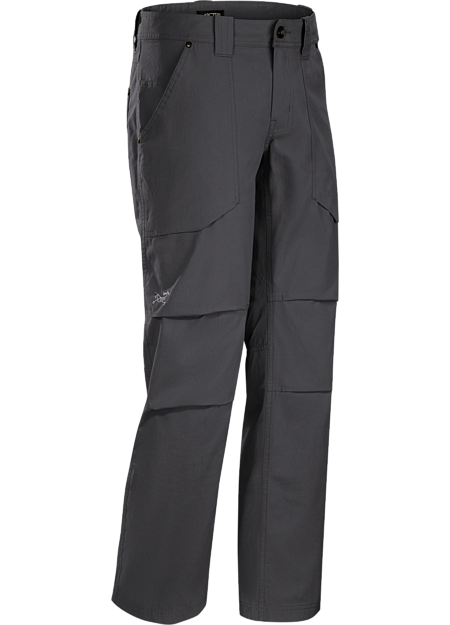 Durable cotton blend canvas pant with classic five pocket styling.