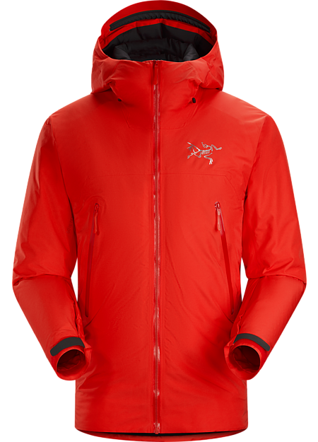Lightweight, insulated GORE-TEX® jacket for backcountry rest phases and descents.
