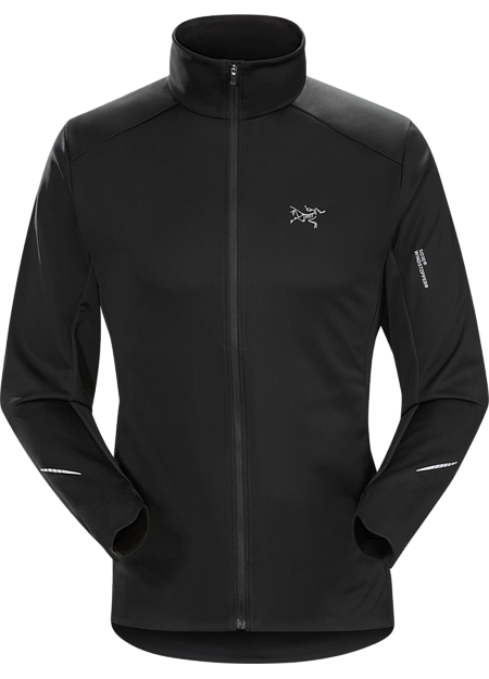 GORE® WINDSTOPPER® mountain training jacket for windy, cool, damp conditions.