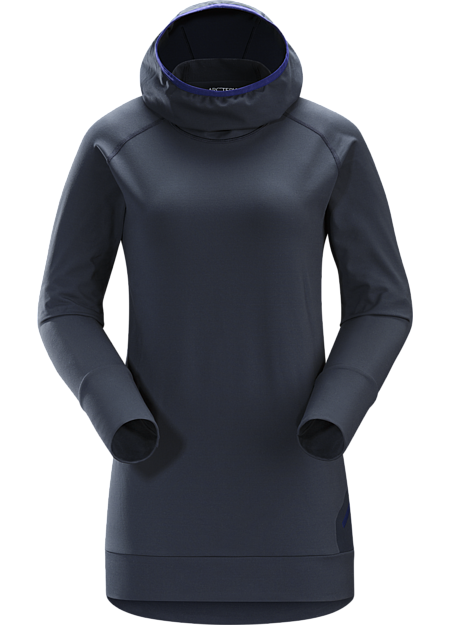 A trim fitted, cold weather base layer with a balaclava style hood.