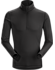 Phase SL Zip Neck LS Men's Black