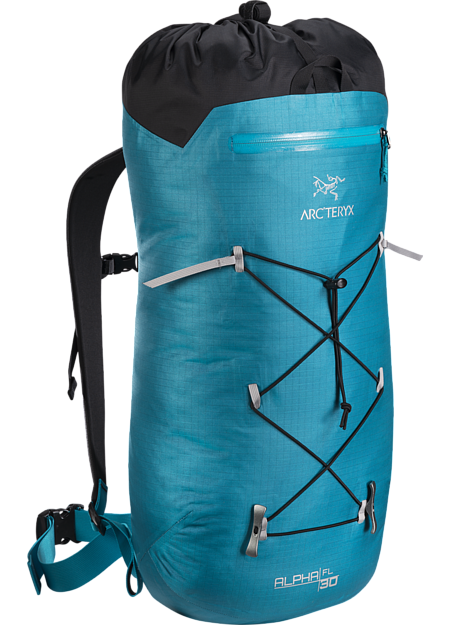 Ultralight, durable, highly weather resistant climbing pack designed for fast and light alpine, ice and rock routes. Alpha Series: Climbing and alpine focused systems | FL: Fast and Light.