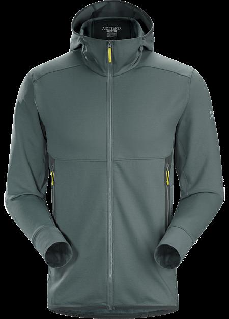 Chaqueta técnica combinable de tejido polar híbrido con capucha para esquí  y snowboard de montaña. 3326f29e31e