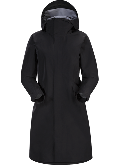 Lightweight, long and comfortable GORE-TEX coat for rainy city days.