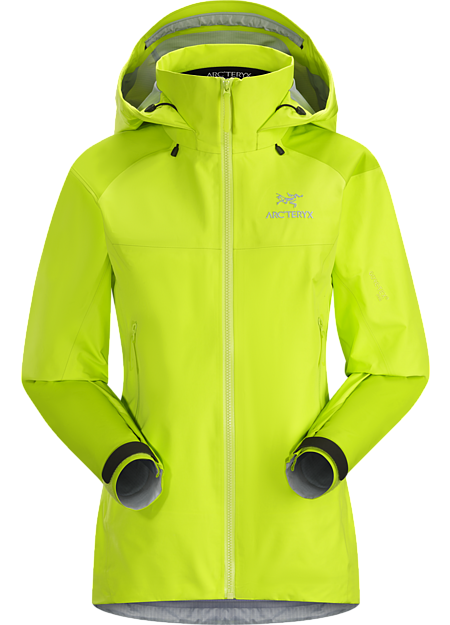Lightweight & packable, waterproof GORE-TEX Pro jacket; hip length with a helmet compatible DropHood™. Beta Series: All round mountain apparel | AR: All Round.