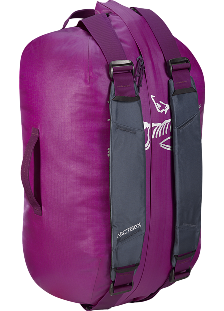 Light, durable, highly water-resistant 40L gear duffle for 2-3 day trips.