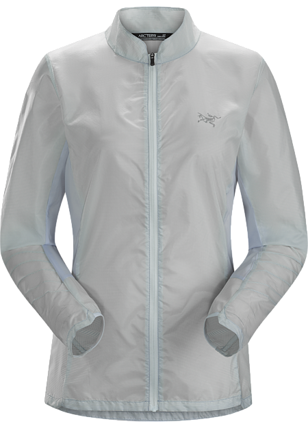 Superlight, stowable, minimalist mountain running jacket.