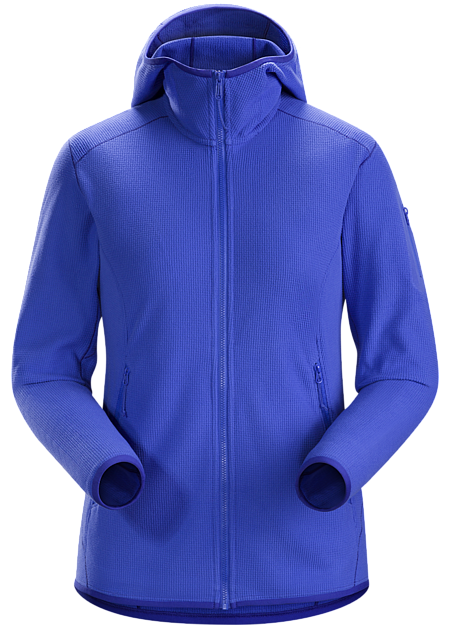 Versatile, lightweight microfleece hoody that works as a midlayer or as a standalone in cool weather. Delta Series: Mid layer fleece | LT: Lightweight.