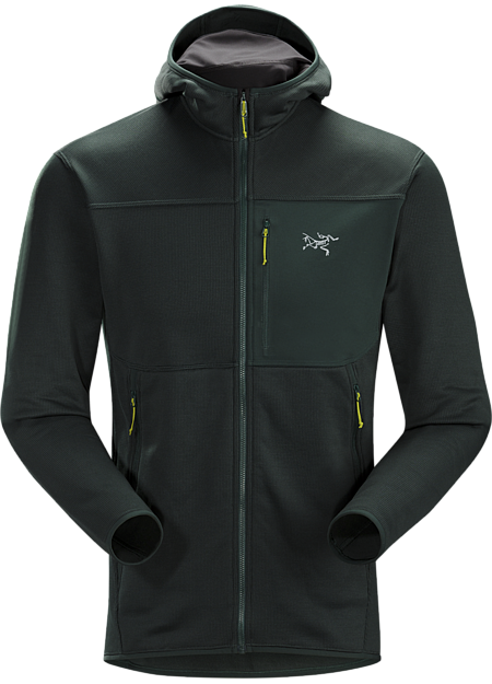 Durable midweight fleece hoody performs as a mid layer or standalone piece.