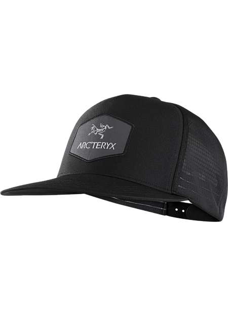 Classic trucker hat with an Arc'teryx logo patch.