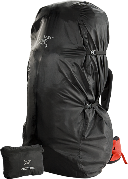 Lightweight and packable pack cover; Fits most packs up to 95L