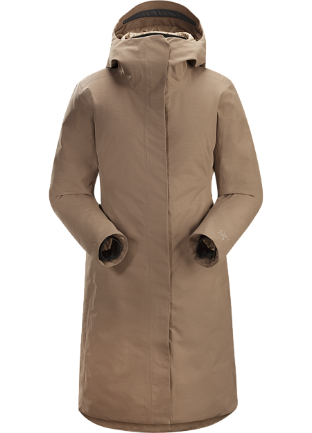 Clean, elegant city parka with the warmth of down and weather protection of GORE-TEX.