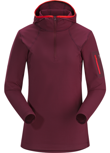 Rho LT Hooded Zip Neck Women's Merbau