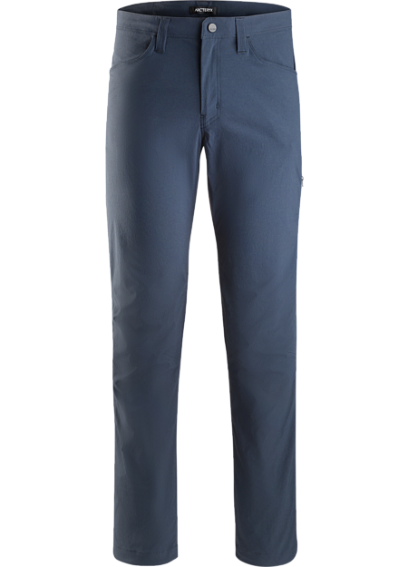 Fully featured, durable climbing pant with soft, cotton-like feel and crossover for everyday wear.