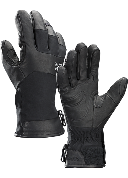 Durable GORE-TEX hand protection with leather reinforced fingers and palms, short cuff and Primaloft® insulation. Designed for big mountain freeride skiing and snowboarding.