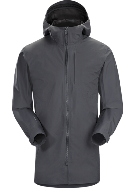 Waterproof, windproof, breathable GORE-TEX coat with a clean urban aesthetic.