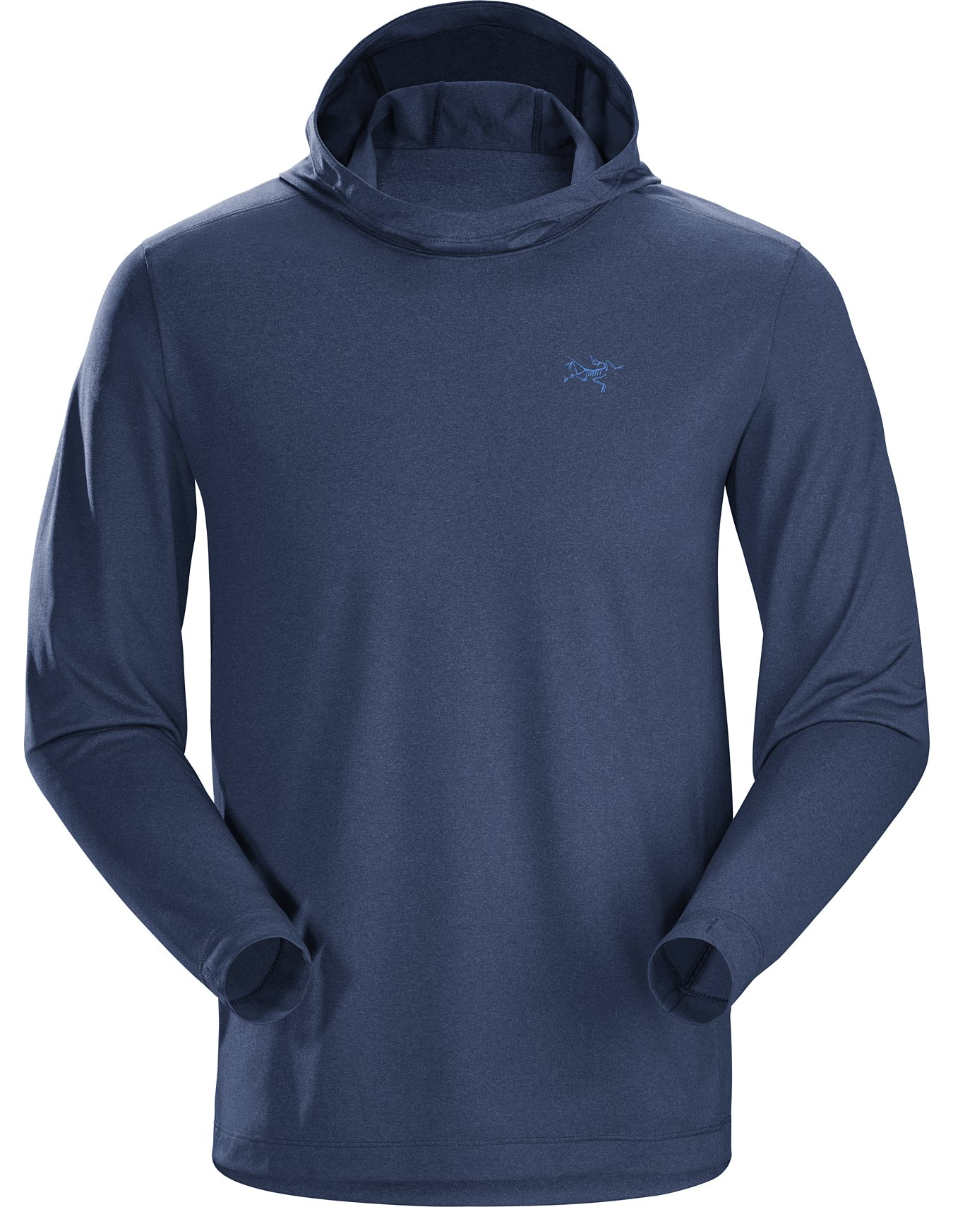 Performance technical light weight mountain bike hooded top hoody wicking layer