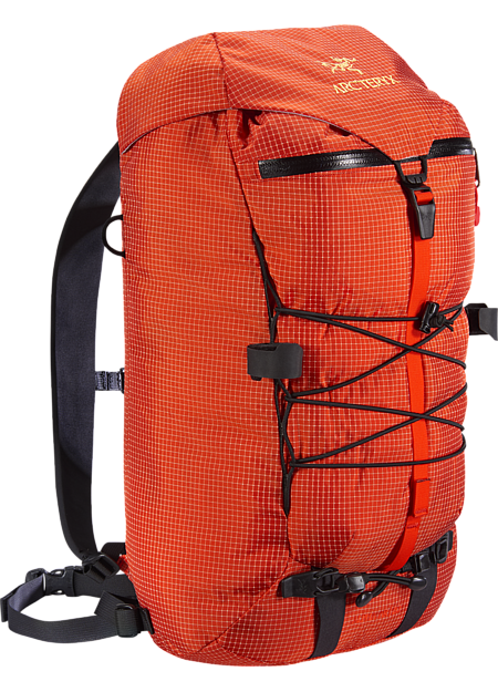 Durable and versatile summit pack for multi-pitch rock, alpine and ice climbing. Alpha Series: Climbing and alpine focused systems | AR: All Round.