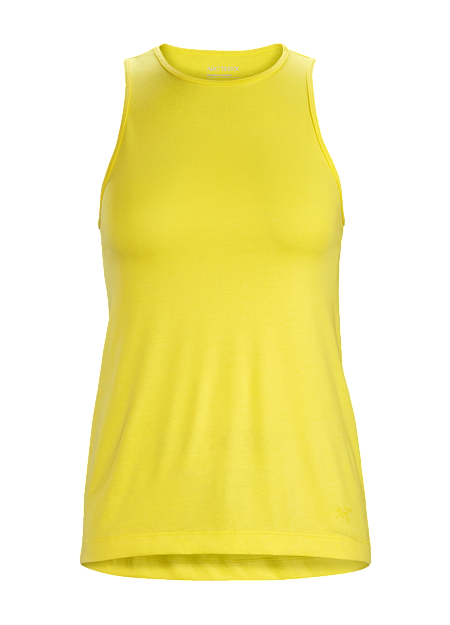 Casual tank combines cotton comfort with polyester yarns to manage moisture.