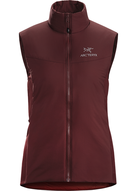 Lightweight, insulated Coreloft™ vest, designed to preserve core warmth; ideal as a layering piece for cold weather activities. Atom Series: Synthetic insulated mid layers | LT: Lightweight.