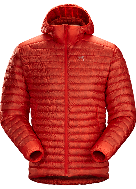 Superlight, highly packable down hoody performs as a mid layer or standalone piece. Down Series: Down insulated garments | SL: Superlight.