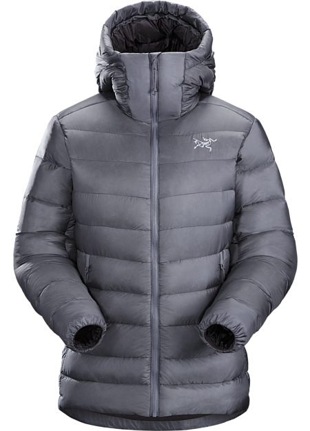 Lightweight, warm 850-fill down hoody performs as a mid layer or standalone piece. Down Series: Down insulated garments | SV: Severe Weather.