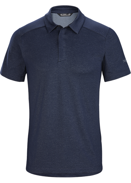 Refined performance polo in an organically-grown cotton blend.