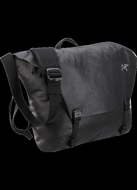 Granville 16 Courier Bag  Black