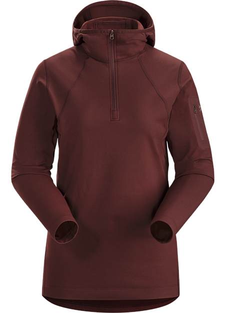 Rho LT Hooded Zip Neck Women's Flux