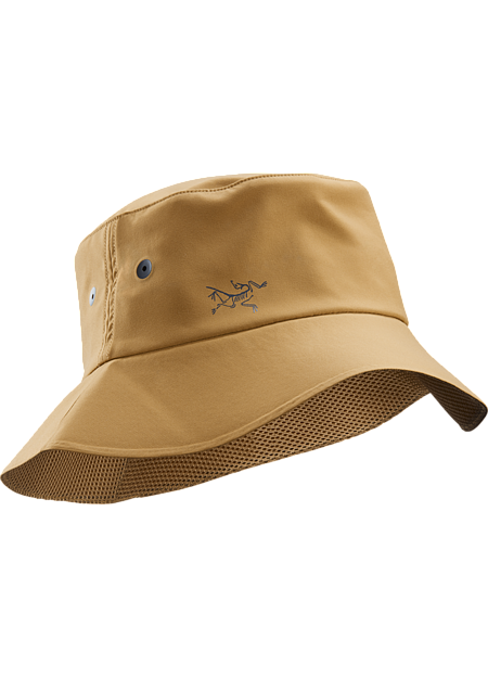 Lightweight, polyester sun hat with soft, pliable brim that easily compresses to fit in a pack or pocket.