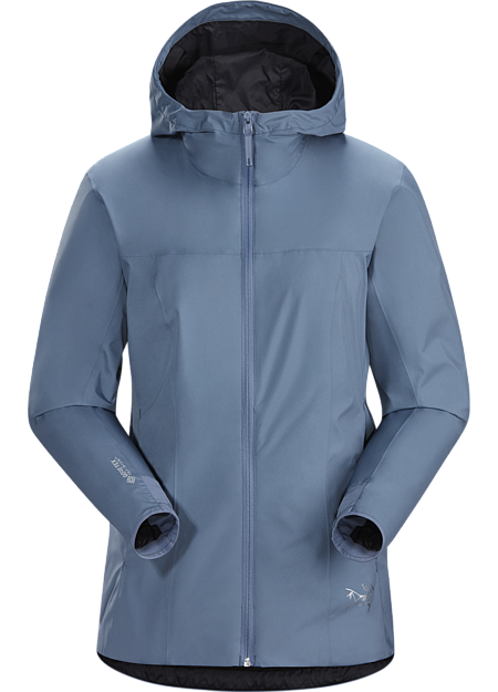 Windproof, water repellant GORE-TEX INFINIUM™ hoody with refined urban style.