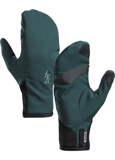 Windproof, warm, breathable, highly weather resistant GORE-TEX INFINIUM™ mitten for high output activities in cold weather. Venta Series: Weather resistant softshell garments.