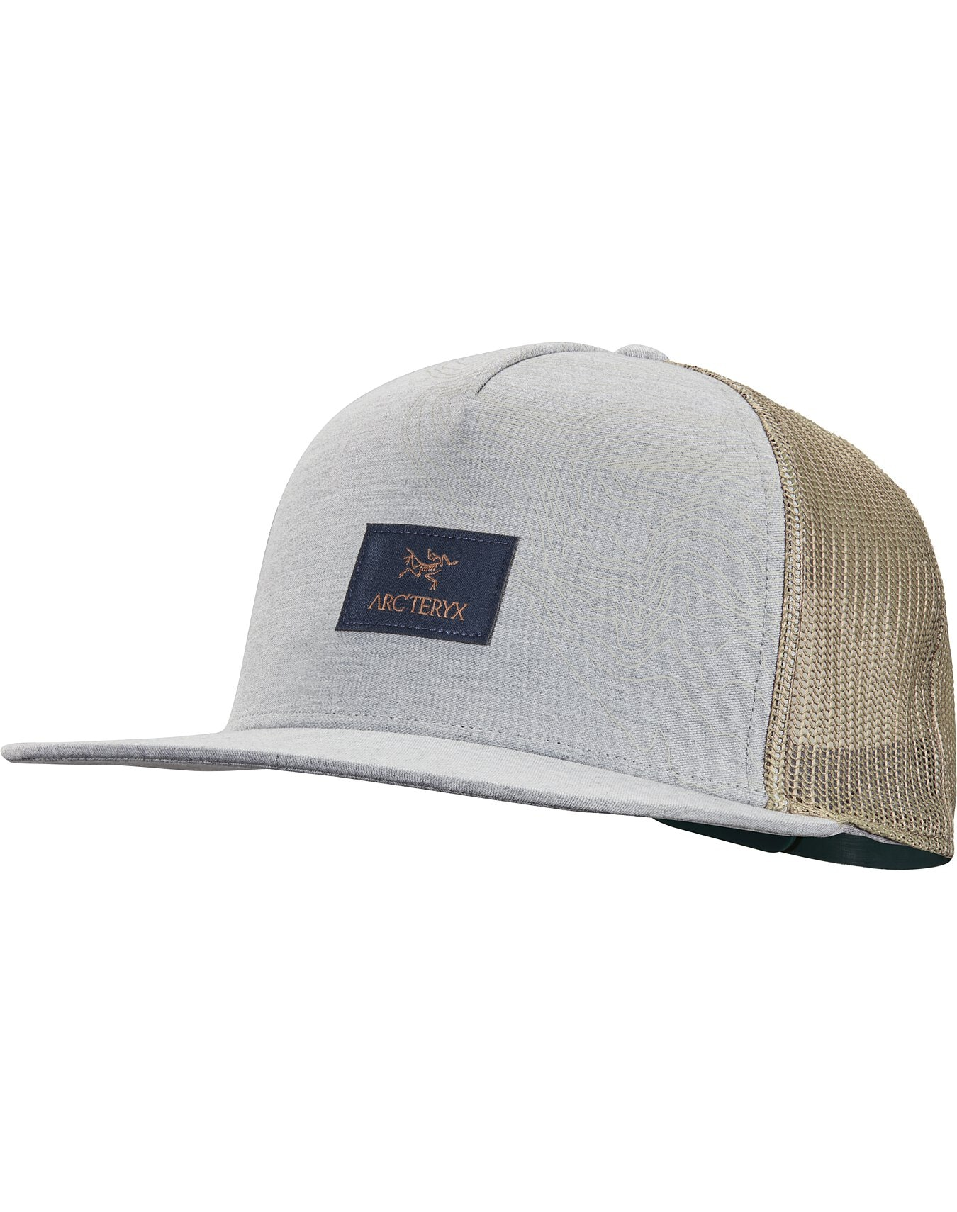 Topographical Trucker Hat Grey Heather