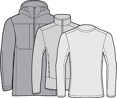 Shell Jacket + Insulation