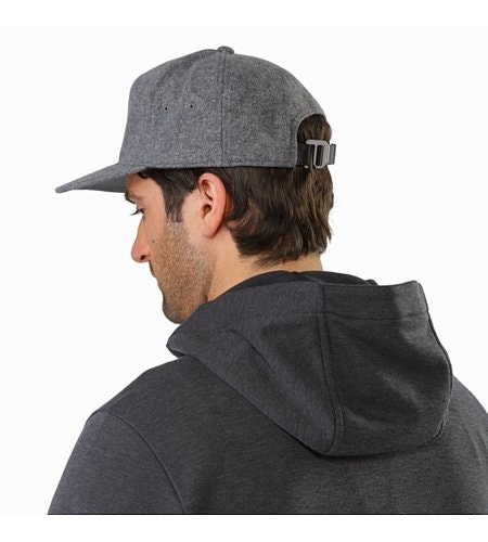 7 Panel Wool Ball Cap Heather Grey Back View